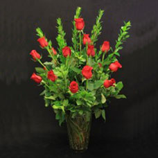 18 Roses Vased